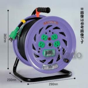 日動工業 100V 一般型ドラム アース付 接地 2P 15A 125V コンセント数:4 長さ50m VCT2.0×3 自動復帰型温度センサー付 NF-E54