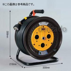 日動工業 三相200V 一般型ドラム 屋内型 アース無 φ35 3P 20A 250V コンセント数:3 長さ20m SVCT3.5×3 ND-320F-20A
