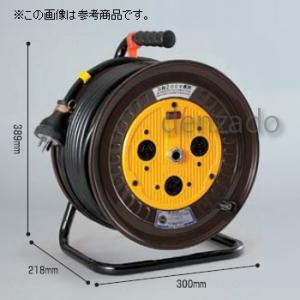 日動工業 三相200V 一般型ドラム 屋内型 アース無 φ35 3P 15A 250V コンセント数:3 長さ50m VCT2.0×3 ND-350-15A