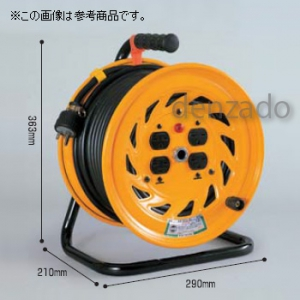 日動工業 単相200V 一般型ドラム 屋内型 アース無 φ35 2P 20A 250V コンセント数:3 長さ20m SVCT3.5×2 NF-220F-20A