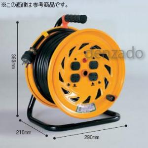 日動工業 単相200V 一般型ドラム 屋内型 アース無 φ35 2P 20A 250V コンセント数:3 長さ30m SVCT3.5×2 NF-230F-20A