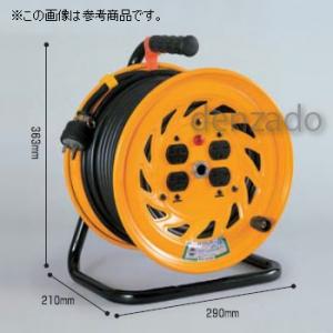 日動工業 単相200V 一般型ドラム 屋内型 アース付 Wコン 接地2P 15A 250V コンセント数:4 長さ20m SVCT3.5×3 NF-E220F-15A