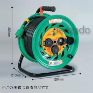 日動工業 防雨・防塵型ドラム 屋外型 アース付 接地 2P 15A 125V コンセント数:3 長さ20m VCT2.0×3 FW-E23