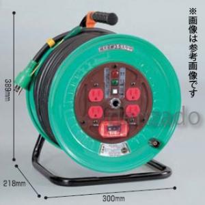 日動工業 100V 一般型ドラム アース付 接地 2P 15A 125V コンセント数:4 長さ50m SVCT3.5×3 アースチェックランプ付 NDN-E54F