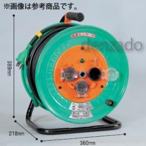日動工業 防雨・防塵型ドラム 屋外型 抜止式コンセント仕様 アース付 接地 2P 15A 125V 抜止式 コンセント数:3 長さ20m VCT2.0×3 NW-E23N