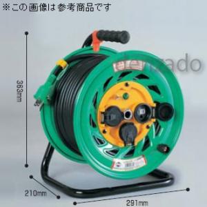 日動工業 防雨・防塵型ドラム 屋外型 アース付 接地 2P 15A 125V コンセント数:3 長さ50m VCT2.0×3 自動復帰型温度センサー付 FW-E53