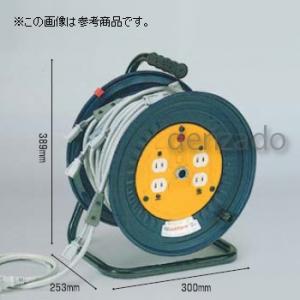 日動工業 分岐リール 屋内型 MKDシリーズ・電源用 アース無/先端防水プラグ付 コンセント数:15A×4 長さ30m VCT2.0×2 支線VCTF1.25×2 分岐数10 MKD-30-10