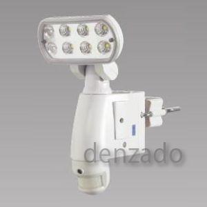 日動工業 LEDセンサーライト 防雨型 8W 560lm 警告音 カメラ付 SDカード SLS-8W-C