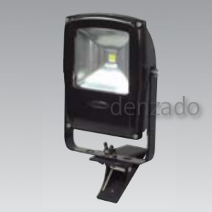 日動工業 LEDフラットライト クリップ式 明るさ目安:白熱球250W以上 防雨型 色温度6000K 本体色:黒 LEN-F10C-BK