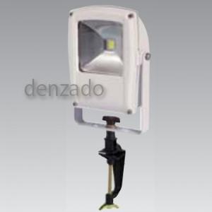 日動工業 LEDフラットライト バイス式 10W(白熱球250W相当) 防雨型 色温度3000K 本体色:白 LEN-F10V-W-S