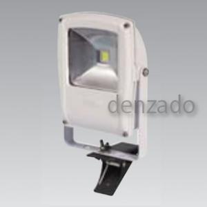 日動工業 LEDフラットライト クリップ式 明るさ目安:白熱球250W以上 防雨型 色温度6000K 本体色:白 LEN-F10C-W