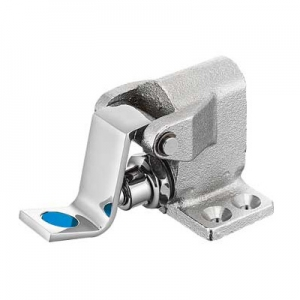 三栄水栓製作所 フットバルブ 湯水表示ラベル付 取付ビスなし V11-13