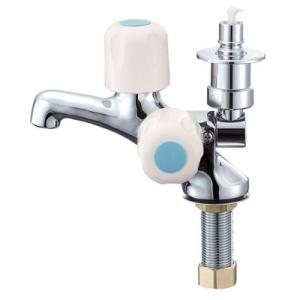 三栄水栓製作所 洗濯機用二口立水栓 オートストッパー付 呼び:13 JF505TV-1-13