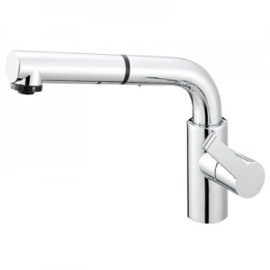 三栄水栓製作所 シングルワンホールスプレー混合栓 節水水栓 キッチン用 ホース引出し式 column K87520JV