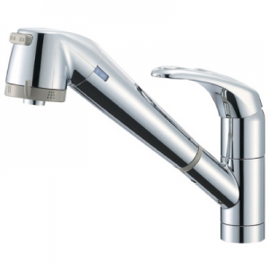 三栄水栓製作所 シングル浄水器付ワンホールスプレー混合栓 節水水栓 キッチン用 浄水カートリッジ内蔵タイプ ホース引出し機能付 modello K87680JV