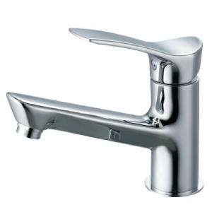 三栄水栓製作所 シングルワンホール洗面混合栓 節水水栓 ポップアップ・ゴム栓なし 泡沫吐水 吐水口高さ:80mm COULE K4712NJV