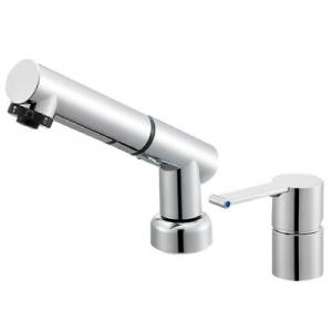 三栄水栓製作所 シングルスプレー混合栓 洗髪用 節水水栓 ホース引出し式 ホース長さ:1.2m 寒冷地用 column K37510JKZ