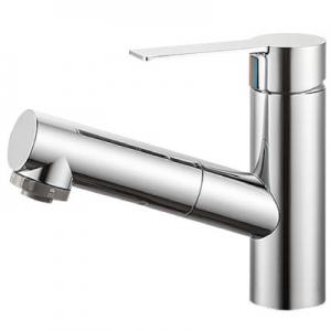 三栄水栓製作所 シングルスプレー混合栓 洗髪用 節水水栓 ホース引出し式 ホース長さ:1m 寒冷地用 column K37531JK