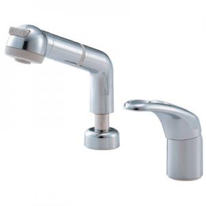三栄水栓製作所 シングルスプレー混合栓 洗髪用 節水水栓 ホース引出し式 ホース長さ:1m 寒冷地用 modello K3761JK-C