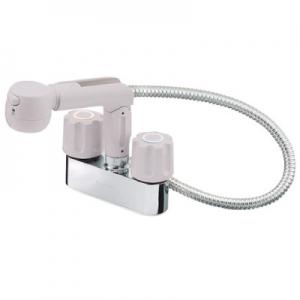 三栄水栓製作所 ツーバルブスプレー混合栓 洗髪用 節水水栓 ホース露出タイプ ホース長さ:0.5m U-MIX K31V-LH