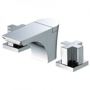 三栄水栓製作所 ツーバルブ洗面混合栓 節水水栓 ポップアップ用 専用引棒付 フラット吐水 roffine K5580P