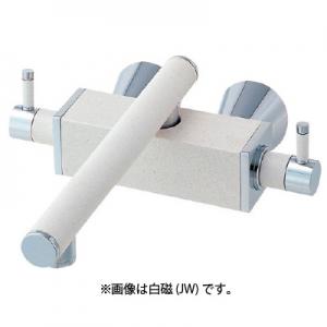 三栄水栓製作所 ツーバルブ混合栓 壁付混合栓 キッチン用 断熱仕様 泡沫吐水 寒冷地用 色:墨磁 TOH K2530K-JD