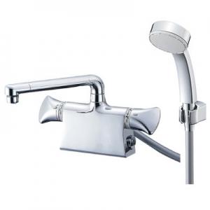 三栄水栓製作所 サーモデッキシャワー混合栓 節水水栓 浴室用 断熱仕様 取付芯ピッチ:120mm U-MIX SK78011DS9