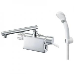 三栄水栓製作所 サーモデッキシャワー混合栓 節水水栓 浴室用 ストップシャワー付 断熱仕様 取付芯ピッチ:85mm 寒冷地用 column SK7850DT2K