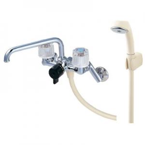 三栄水栓製作所 ツーバルブシャワー混合栓 壁付混合栓 浴室用 パイプ上向きタイプ CSK211