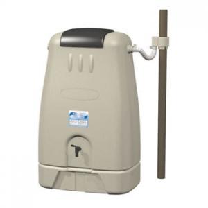 三栄水栓製作所 雨水タンク 省スペース地上設置型 取水器・専用架台付 有効タンク容量:250L グレー EC2010AS-H-60-250L