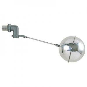 三栄水栓製作所 横形ステンレスボールタップ トイレ用品 ステンレス玉付 玉の直径:105mm 呼び:13 V435-13