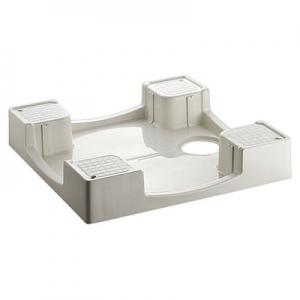三栄水栓製作所 洗濯機パン 寸法:640×640mm アイボリーホワイト H5412-640