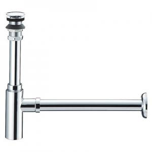 三栄水栓製作所 アフレナシボトルトラップ 洗面用品 オーバーフローのない手洗器用 化粧カバー・アジャスト付 排水栓外径:54mm パイプ径:25mm H7610-25
