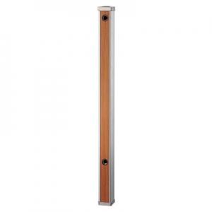 三栄水栓製作所 木目調水栓柱 ガーデニング 高さ:900mm 前面木目調ブラウン T803-60X900-BR