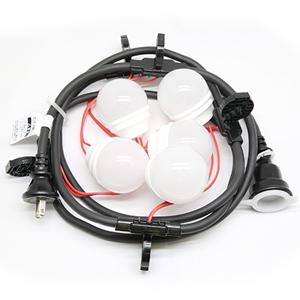 長谷川製作所 LED電球一体型提灯コード 防水仕様 屋外用 5灯 全長2.5m 防水プラグ・防水コネクタ付 CCLB025L05P05