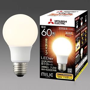 三菱 【ケース販売特価 10個セット】 LED電球 《MILIE ミライエ》 全方向タイプ 一般電球形 60W形相当 全光束810lm 電球色 E26口金 LDA7L-G/60/S-A_set
