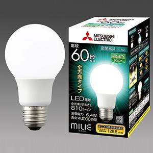 三菱 【ケース販売特価 10個セット】 LED電球 《MILIE ミライエ》 全方向タイプ 一般電球形 60W形相当 全光束810lm 昼白色 E26口金 LDA6N-G/60/S-A_set