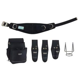 ジェフコム 電工プロキャンバス腰道具セット ブラック JNDS2-R300AB-SET