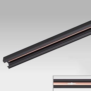 東芝 【ケース販売特価 10本セット】 接地極付ライティングレール Ⅵ形 長さ2m 黒 NDR0212EK_set