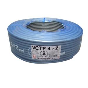 富士電線 ビニルキャブタイヤ丸形コード 2.0㎟ 4心 100m巻 灰色 VCTF2.0SQ×4C×100mハイ