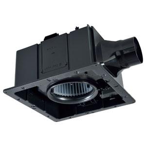 三菱 ダクト用換気扇 グリル別売タイプ 24時間換気機能付 サニタリー用 低騒音形 接続パイプφ100mm 埋込寸法315mm角 VD-18ZLSC10-IN