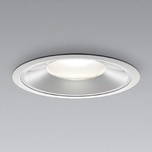 コイズミ照明 LEDベースダウンライト 浅型 明るさ切替タイプ HID150W・FHT42W×4相当 白色 埋込穴φ200mm 照度角55° 電源別売 XD91387L