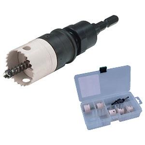 ジェフコム 充電バイメタルホールソーセット 薄刃・替刃式タイプ 有効長11mm JHUC-2133