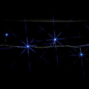 ジェフコム LEDストリングフォール 連結タイプ 組立式 10mタイプ LED×97個 屋外用 青 SJ-S05-10BB