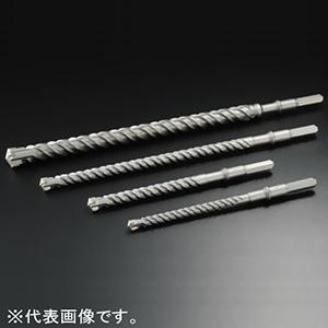 ユニカ 六角軸UXビット HUXタイプ・ロング 打撃+回転用 刃先径34.0mm 全長420mm シャンクサイズ:対辺13mm HUXL34.0X420