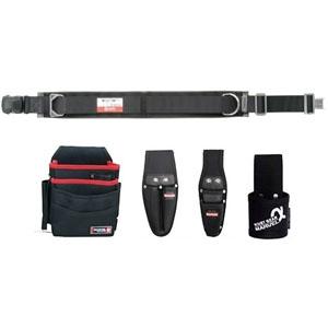 マーベル 腰道具セット 柱上安全帯用ベルト+腰回り4点セット ワンタッチバックル スタンダードタイプ 《ソフトフィット・Shuttoシリーズ》 MAT-80BSETD