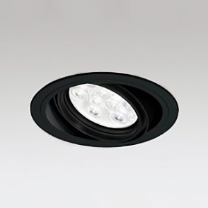 オーデリック LEDユニバーサルダウンライト M形 埋込穴φ125 HID35Wクラス LED9灯 配光角47° 非調光 本体色:ブラック 電球色タイプ 3000K XD258623F