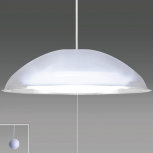 タキズミ ペンダントライト洋風LEDタイプ プラスチックセード(クリア) 10畳用 プルスイッチ付 昼光色 RV10061