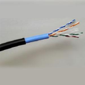 関西通信電線 LAN配線用ケーブル 屋外用 Cat.6 100m巻 黒 UTP-C6-W(0.5×4P)