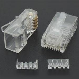 関西通信電線 UTP-C6用モジュラープラグ Cat.6用 100個入 RJ45UTPC6ヨウ